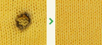 ニットの修理|タバコのこげ跡